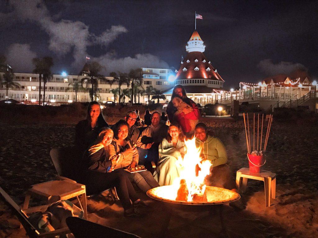 Marshmallow roast at the Hotel Del Coronado