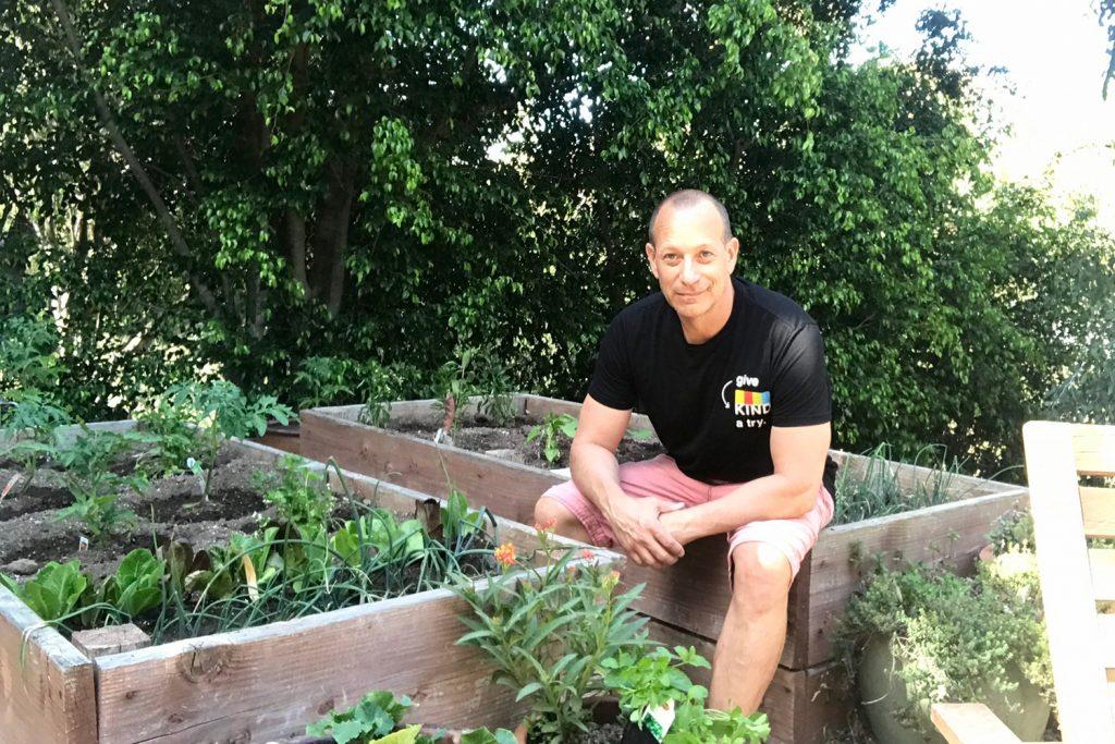 Backyard vegetable farmer