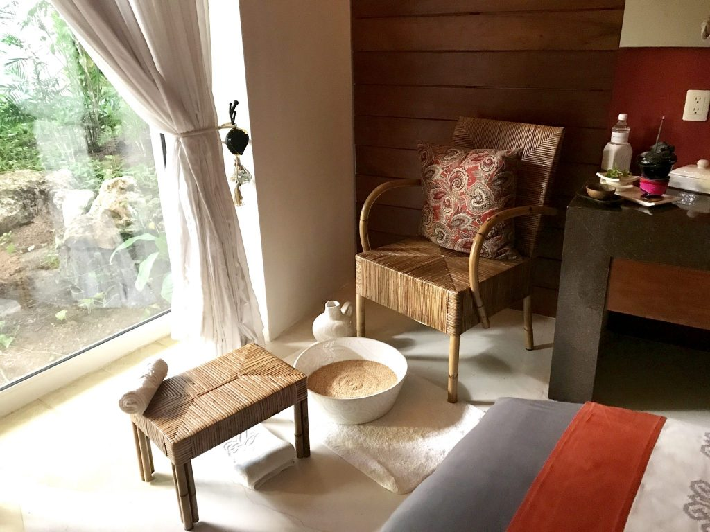 warm millet foot treatment at Se Spa Riviera Maya
