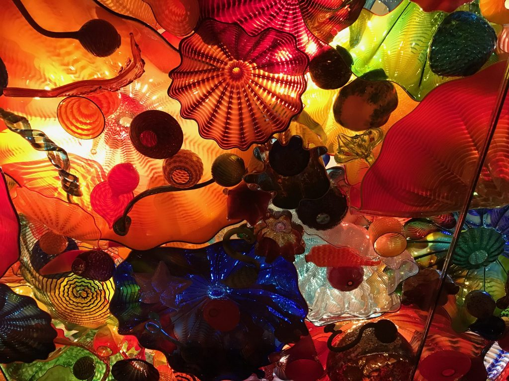 Chihuly Museum Seattle art glass sculpture ceiling