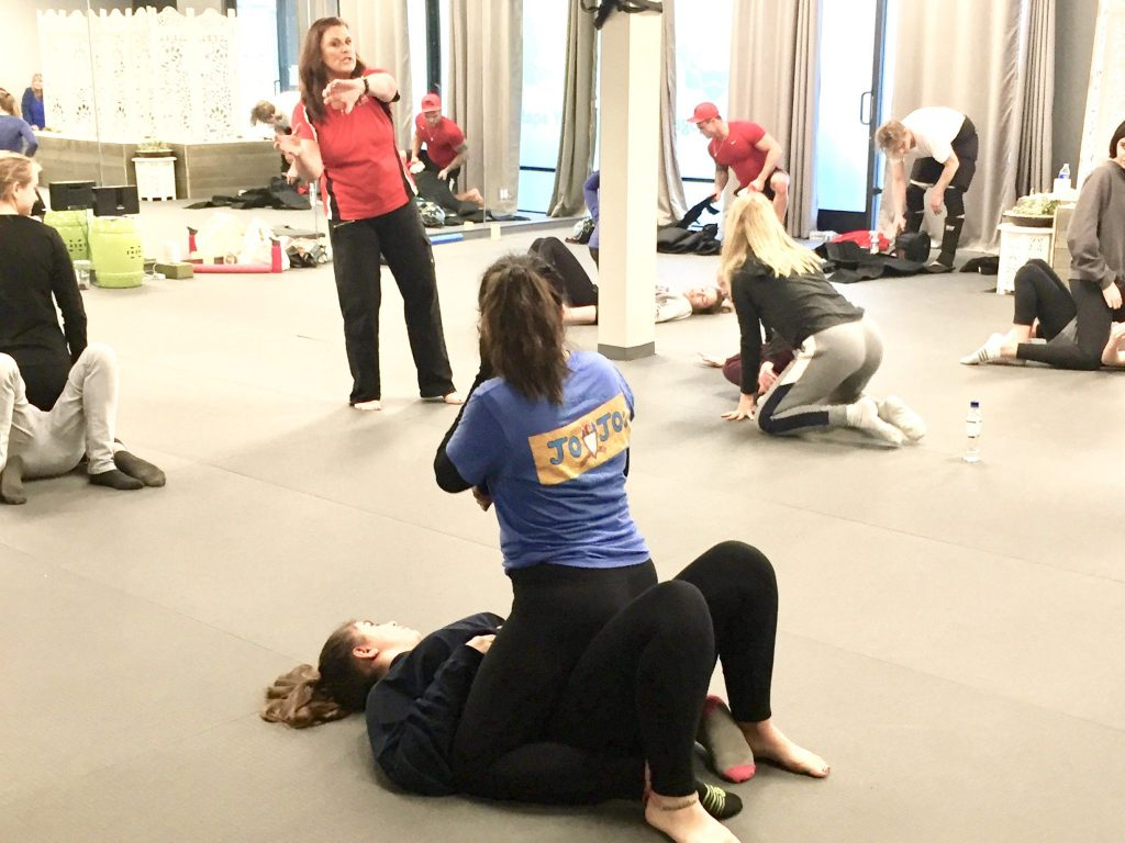 self defense class in session San Diego