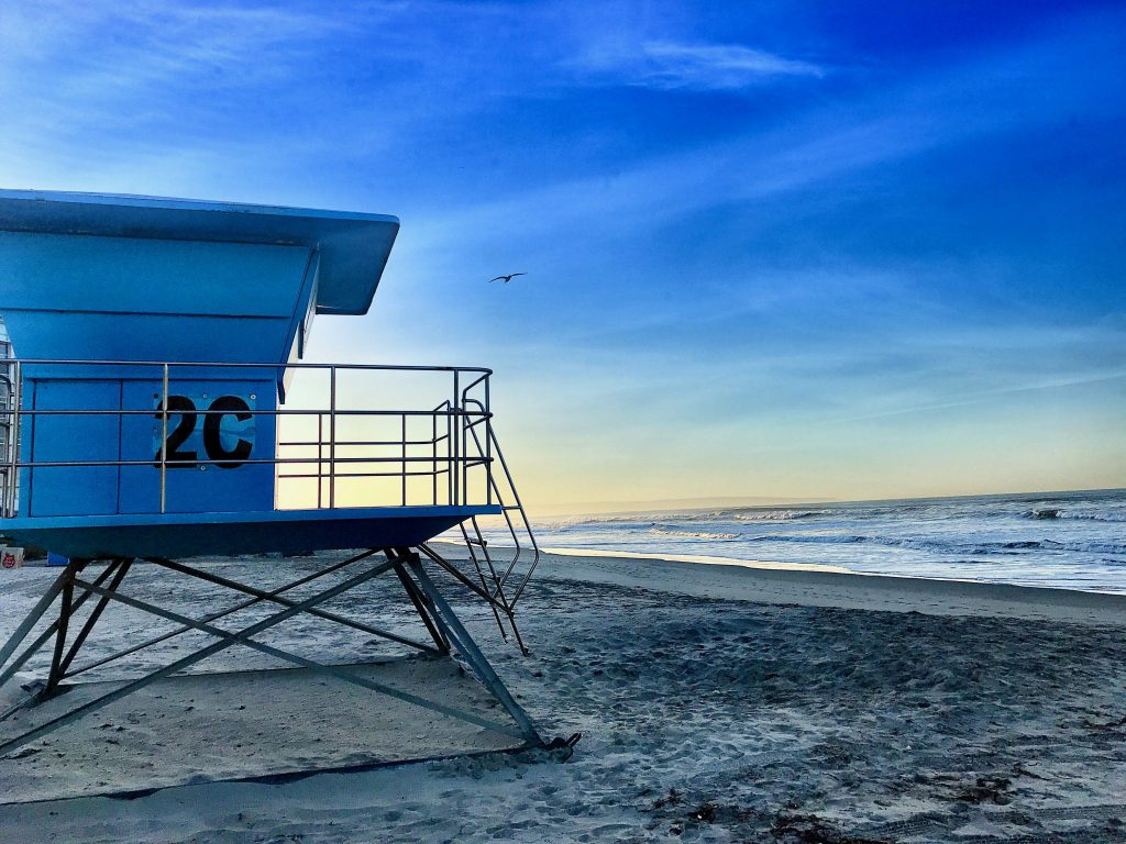 Lifeguard station at Coronado Beach, Coronado and San Diego, CA