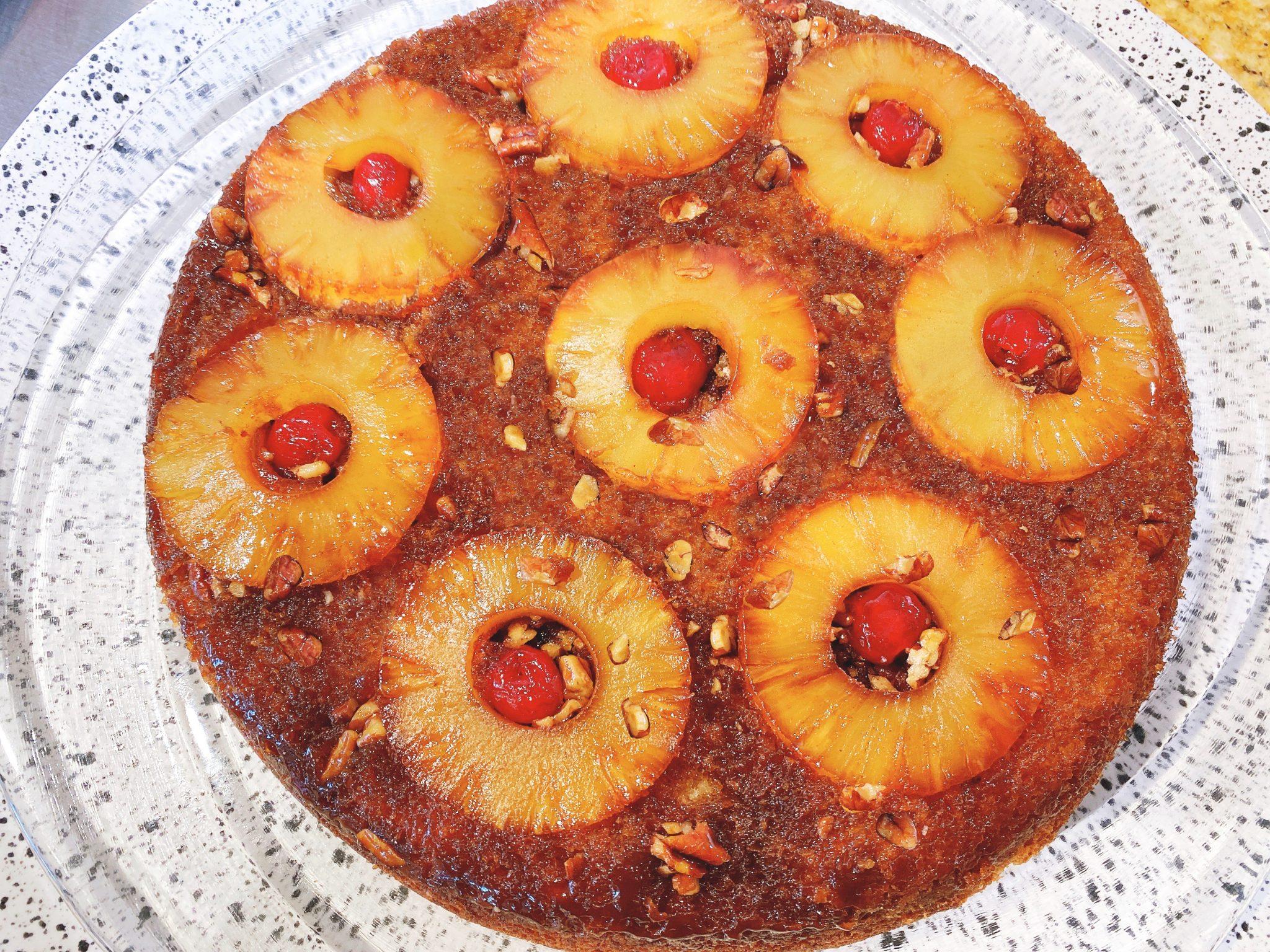 Bourbon Pineapple Upside Down Cake Recipe
